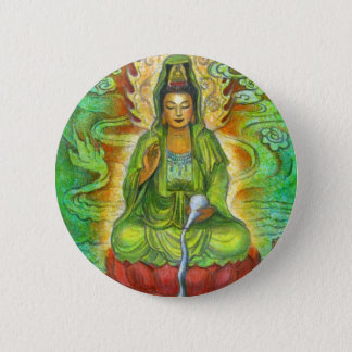 """Water Dragon"" Kuan Yin Buton Button"