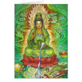 """Water Dragon"" Kuan Yin Greeting Card"