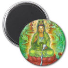 """Water Dragon"" Kuan Yin Magnet"