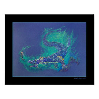 Water Dragon Poster