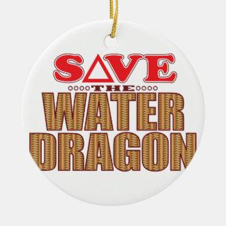 Water Dragon Save Ceramic Ornament