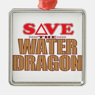 Water Dragon Save Metal Ornament