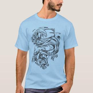 Water Dragon Sketch Style T-Shirt