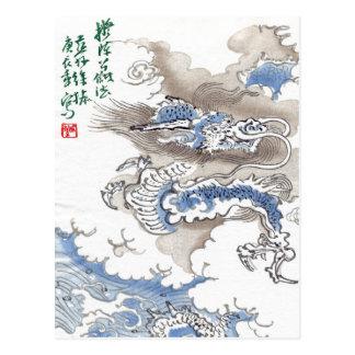 Water Dragon Vintage Japan 2012 Postcard