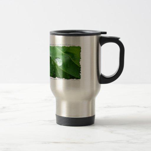 Water Drip on Leaf Water Conservation Design Mug