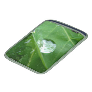 Water Drip on Leaf Water Conservation Design Sleeve For iPads