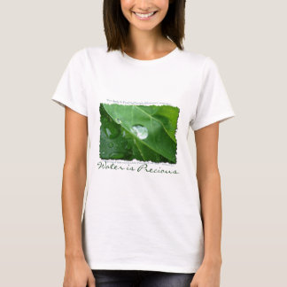 Water Drip on Leaf Water Conservation Design T-Shirt