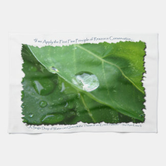 Water Drip on Leaf Water Conservation Design Towel