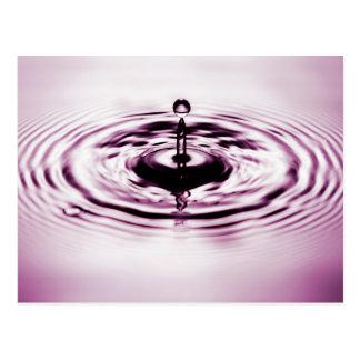 Water drop 2 postcard