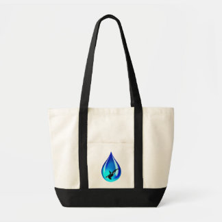 Water Drop and Orca Tote Bag