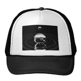 Water drop cause ripple trucker hat