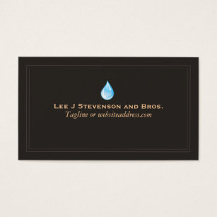 Environmental business cards templates zazzle water drop logo plumber and water treatment business card colourmoves Images