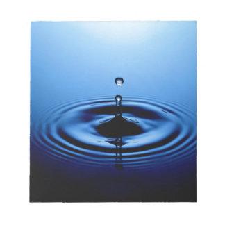 Water drop memo note pads