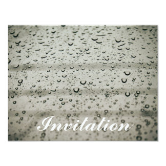 Water drop on a window card