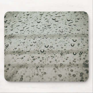 Water drop on a window mouse pad