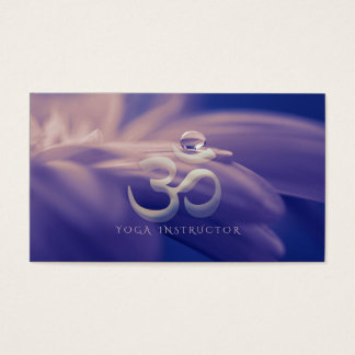 Water Drop On Lotus with OM Symbol YOGA Instructor Business Card