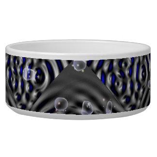 Water drop on metal pet food bowls
