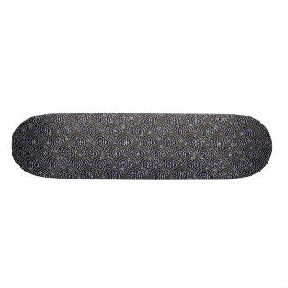 Water drop on metal skateboard deck