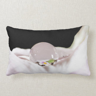 Water drop on white flower pillows