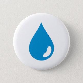 Water drop pinback button