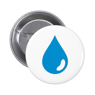 Water drop pinback button