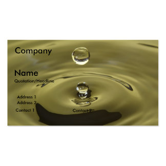 water drop plumber pack of standard business cards