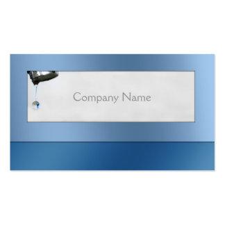Water Drop Plumber Service Blue Card Business Card Template