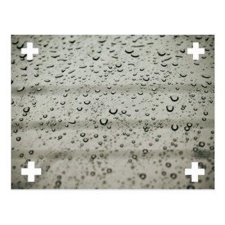 Water drop postcard