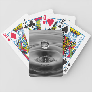 Water drop slow motion art design bicycle playing cards