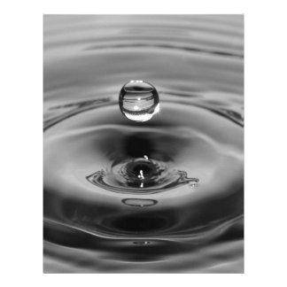 Water drop slow motion art design letterhead