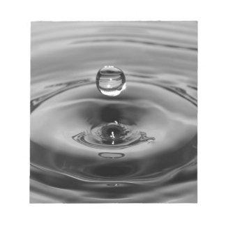 Water drop slow motion art design memo notepads
