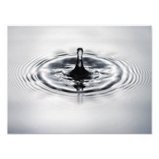 Water drop splash photo print