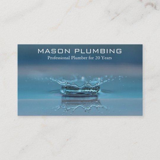 Water drop splash plumber business card zazzle water drop splash plumber business card colourmoves