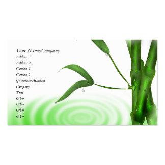 Water Drop Water Ripple Bamboo Business Card