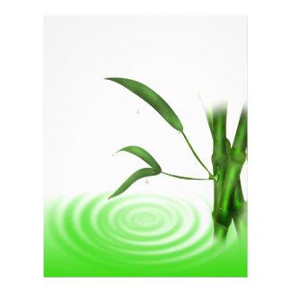 Water drop water ripple bamboo plants  Letterhead