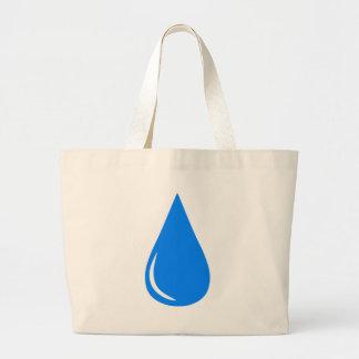 Water Droplet Large Tote Bag