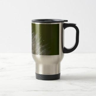 Water droplet on a dandelion travel mug