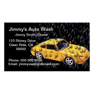 Water Droplets Auto Wash Business Cards