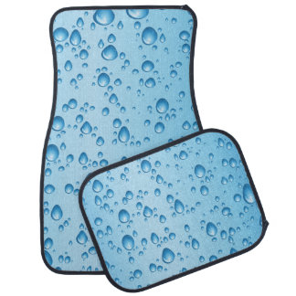 Water Droplets Car Mat