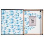 Water droplets iPad folio case