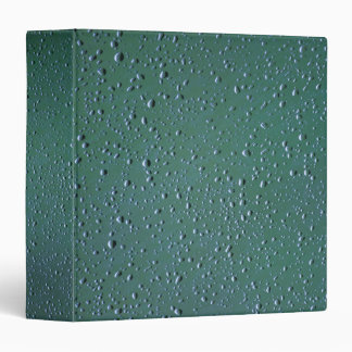 Water Droplets on a Green Background Vinyl Binder