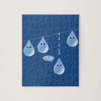 Water Droplets on a Line Jigsaw Puzzle