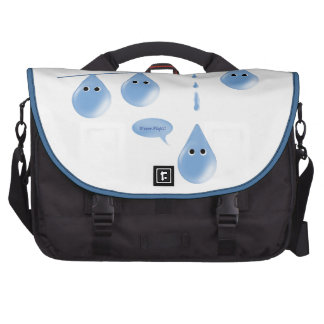 Water Droplets on a Line Bags For Laptop