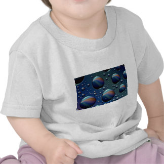 Water droplets on glass t shirts