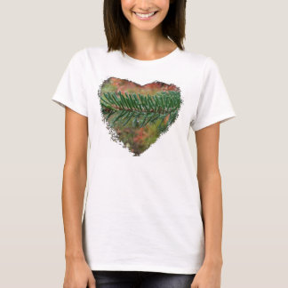 Water Droplets on Spruce Bough T-Shirt