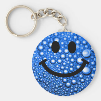 Water droplets smiley keychain