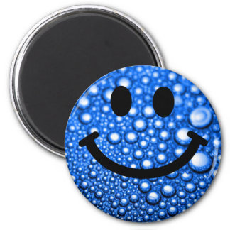 Water droplets smiley magnet