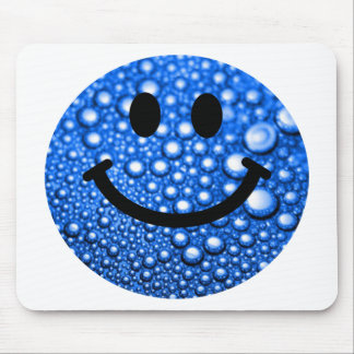 Water droplets smiley mouse pad