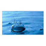 Water Droplets Splash Abstract Background Business Cards