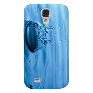Water Droplets Splash Abstract Background Samsung Galaxy S4 Cover